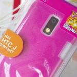HTC J 用のピンクのスマホカバーを購入!